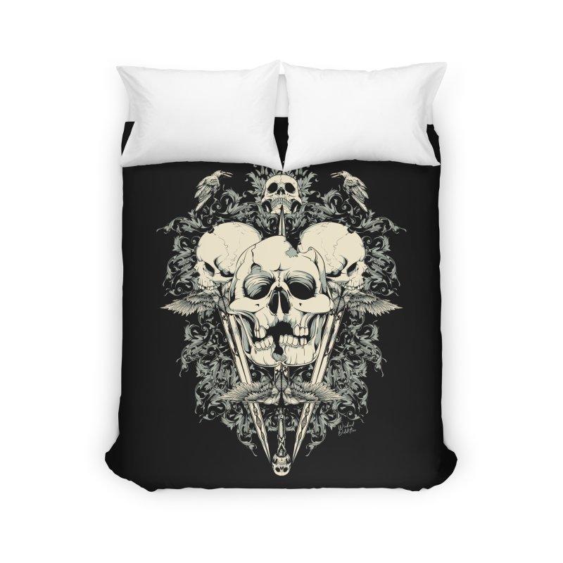 Skulls and Swords Home Duvet by Wicked Oddities