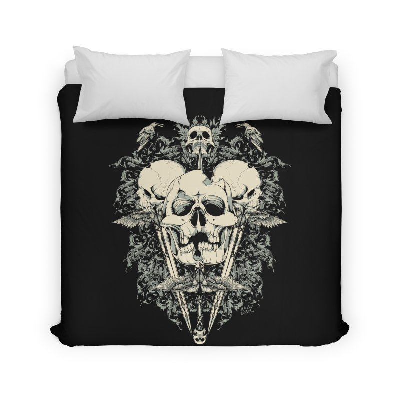 Skulls and Swords Home Duvet by Wicked Oddities