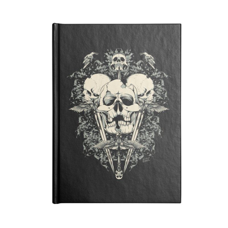Skulls and Swords Accessories Blank Journal Notebook by Wicked Oddities