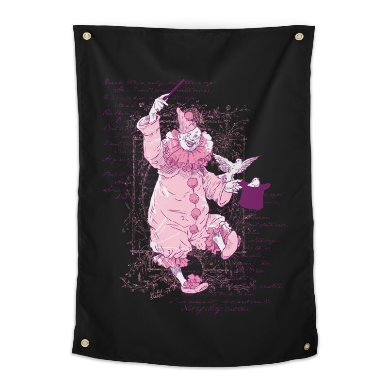 Clown Magic Home Tapestry by Wicked Oddities