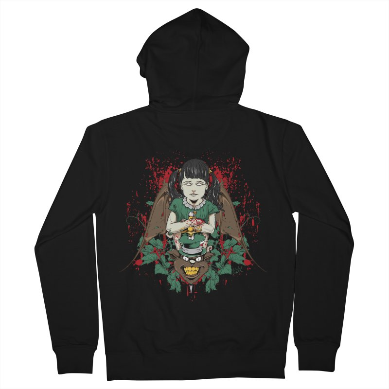 Violence Of Innocence Women's French Terry Zip-Up Hoody by Wicked Oddities