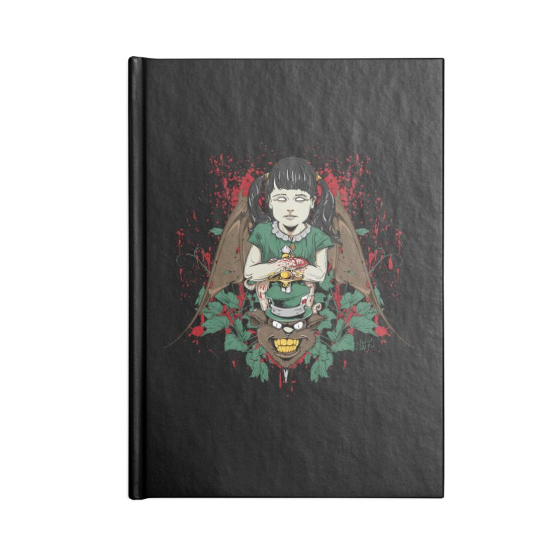 Violence Of Innocence Accessories Blank Journal Notebook by Wicked Oddities