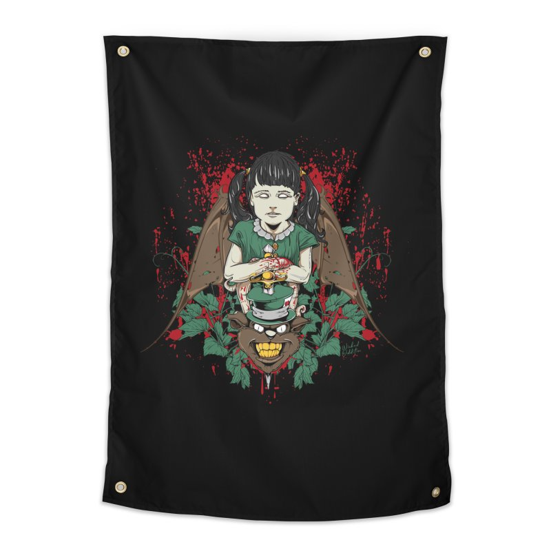 Violence Of Innocence Home Tapestry by Wicked Oddities