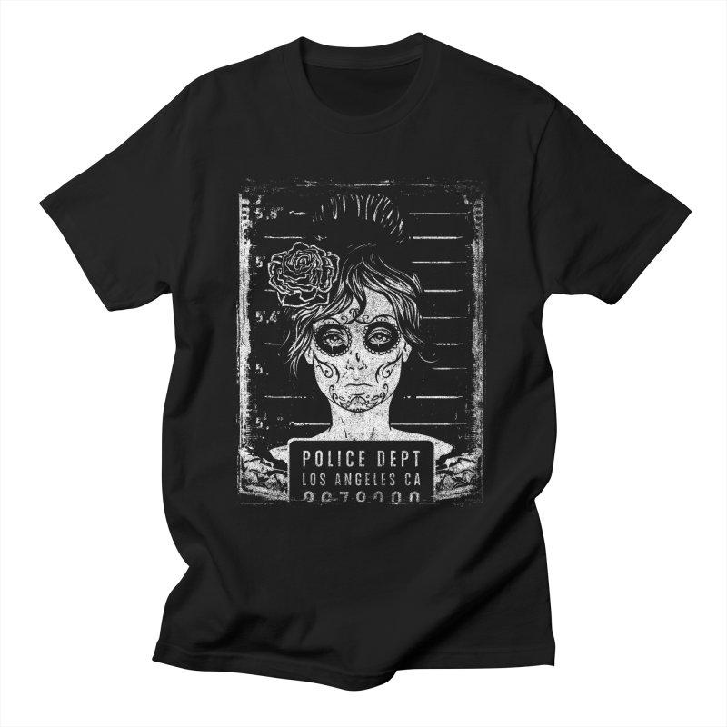 Muerte Mugshot Men's T-Shirt by Wicked Oddities