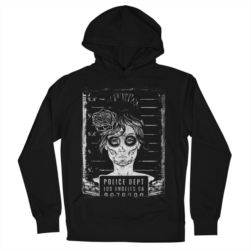 Muerte Mugshot Women's French Terry Pullover Hoody by Wicked Oddities