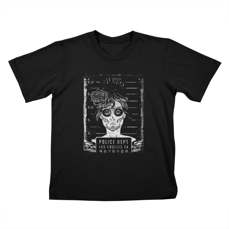 Muerte Mugshot Kids T-Shirt by Wicked Oddities