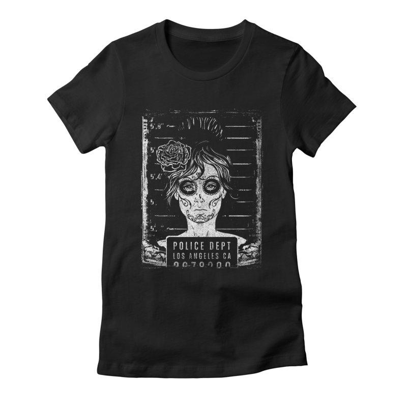Muerte Mugshot Women's Fitted T-Shirt by Wicked Oddities