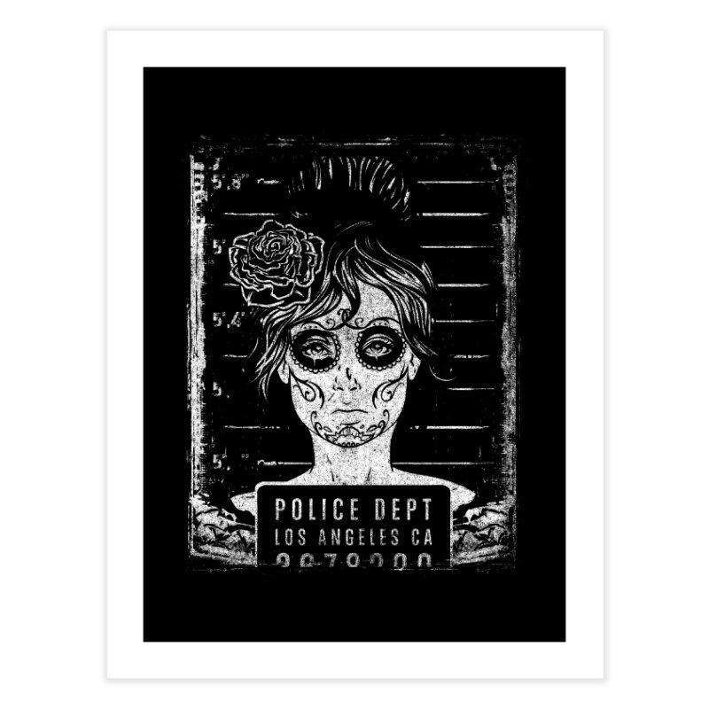 Muerte Mugshot Home Fine Art Print by Wicked Oddities