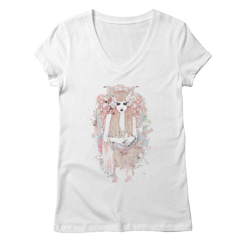 Shackled Women's Regular V-Neck by Wicked Oddities