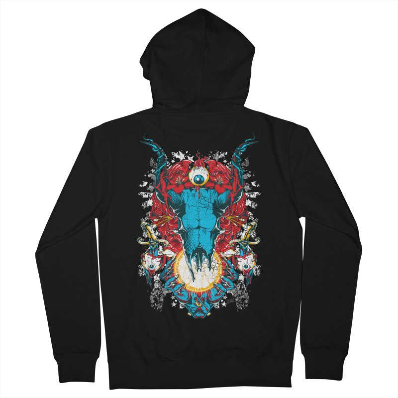 Eyes Upon You Men's French Terry Zip-Up Hoody by Wicked Oddities