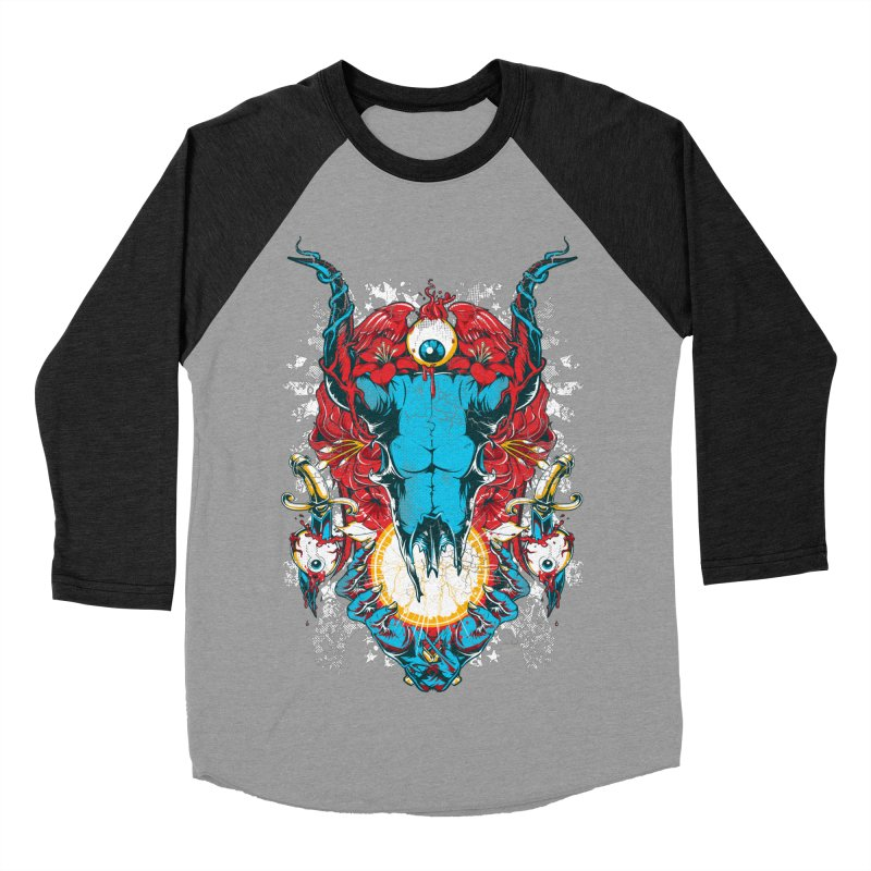 Eyes Upon You Men's Baseball Triblend Longsleeve T-Shirt by Wicked Oddities