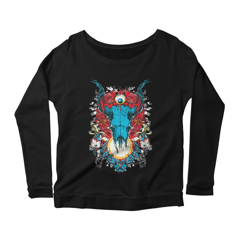 Eyes Upon You Women's Scoop Neck Longsleeve T-Shirt by Wicked Oddities