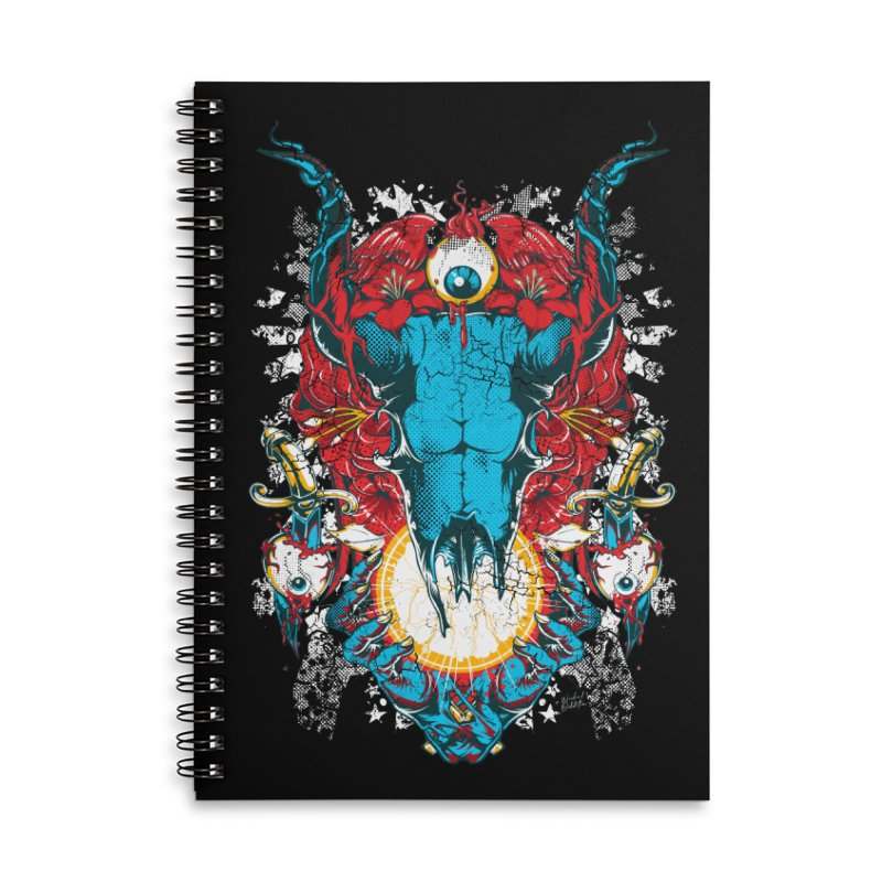 Eyes Upon You Accessories Lined Spiral Notebook by Wicked Oddities