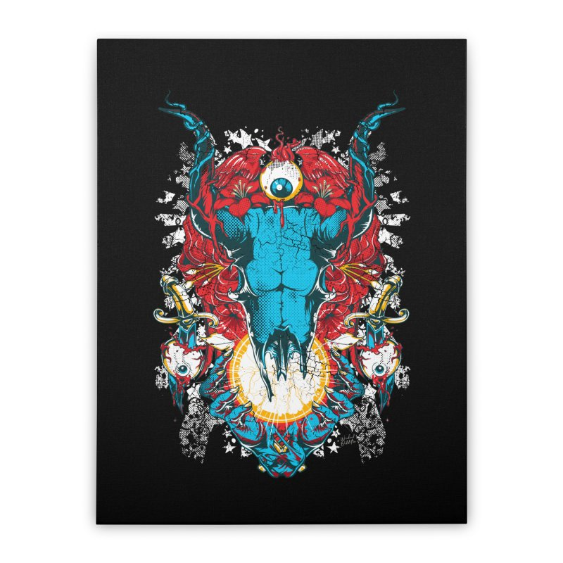 Eyes Upon You Home Stretched Canvas by Wicked Oddities