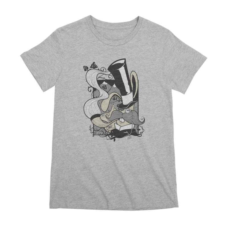 Gentleman Rabbit Women's Premium T-Shirt by Wicked Oddities