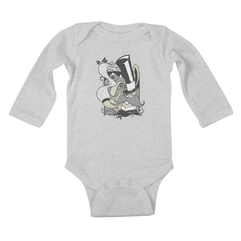 Gentleman Rabbit Kids Baby Longsleeve Bodysuit by Wicked Oddities