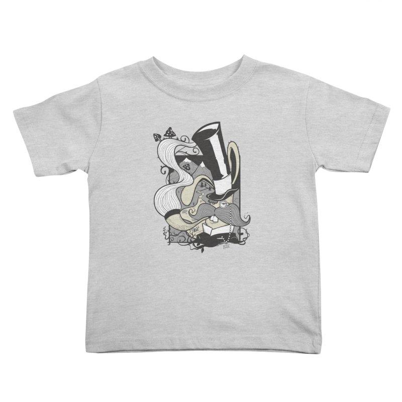 Gentleman Rabbit Kids Toddler T-Shirt by Wicked Oddities