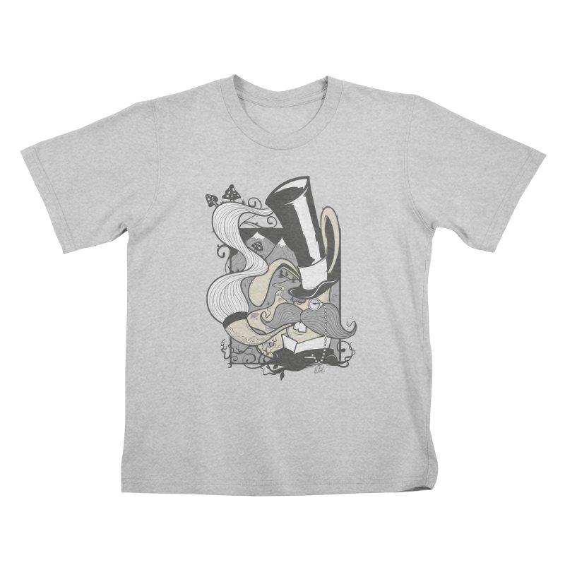 Gentleman Rabbit Kids T-Shirt by Wicked Oddities