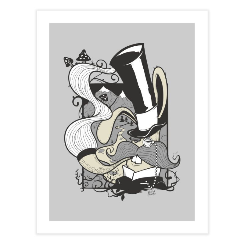 Gentleman Rabbit Home Fine Art Print by Wicked Oddities
