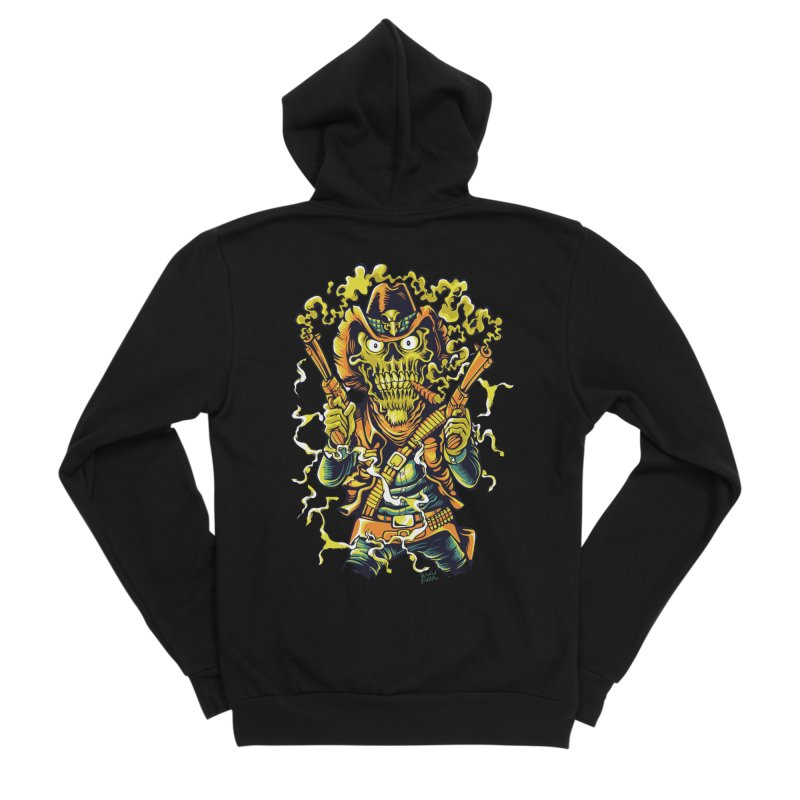 Western Horror Men's Sponge Fleece Zip-Up Hoody by Wicked Oddities