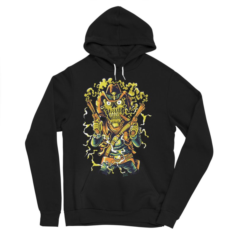 Western Horror Men's Sponge Fleece Pullover Hoody by Wicked Oddities