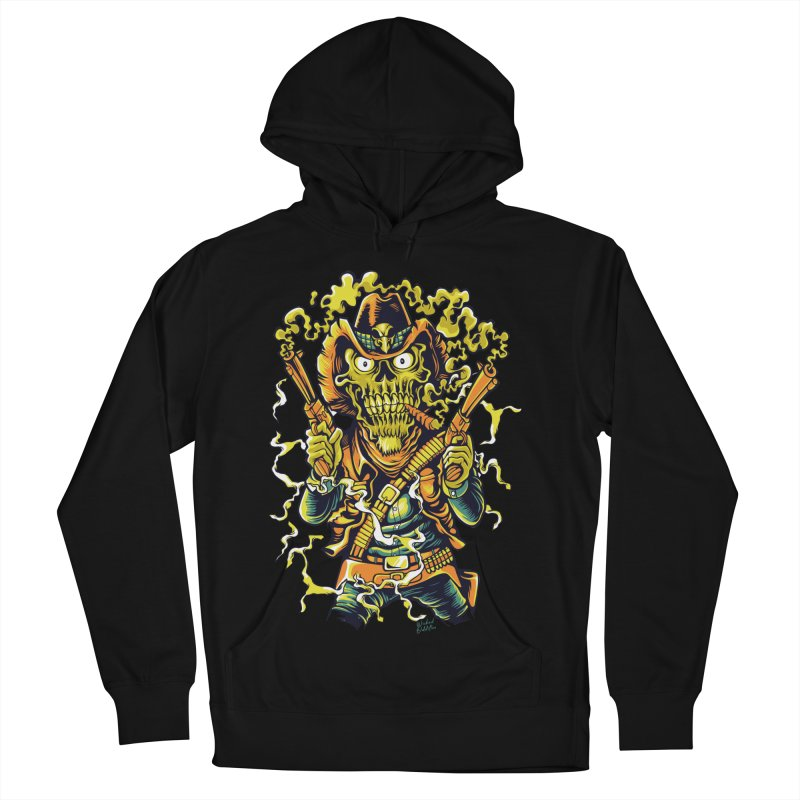 Western Horror Men's French Terry Pullover Hoody by Wicked Oddities