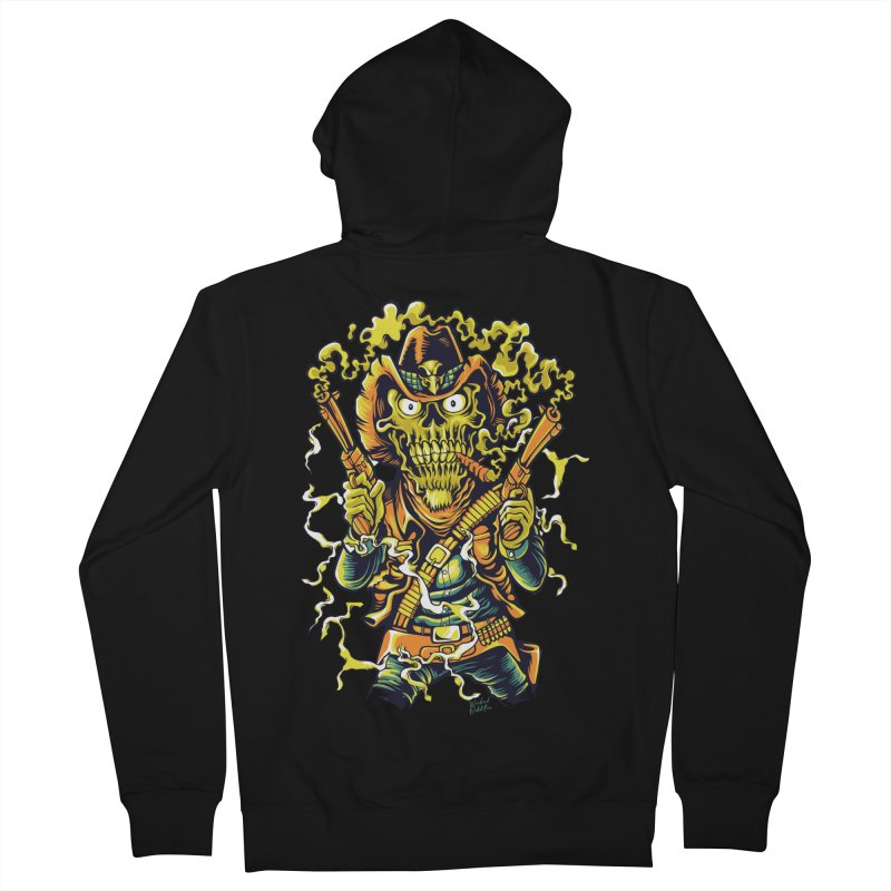 Western Horror Men's French Terry Zip-Up Hoody by Wicked Oddities