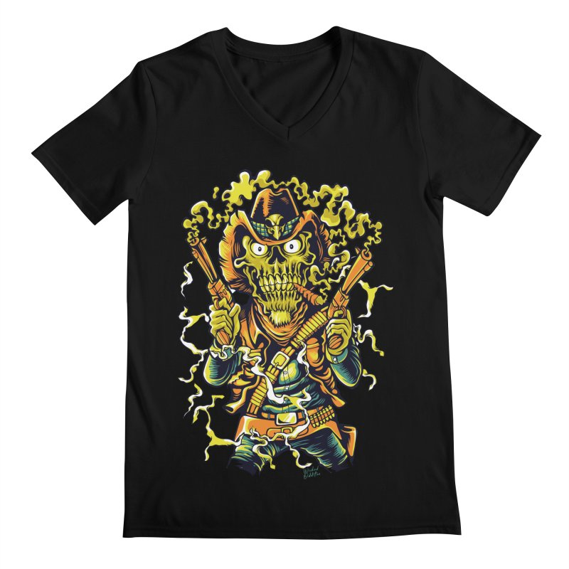 Western Horror Men's Regular V-Neck by Wicked Oddities