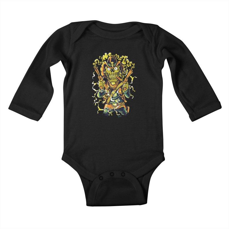 Western Horror Kids Baby Longsleeve Bodysuit by Wicked Oddities