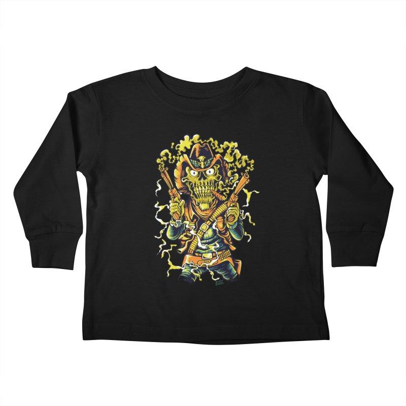 Western Horror Kids Toddler Longsleeve T-Shirt by Wicked Oddities