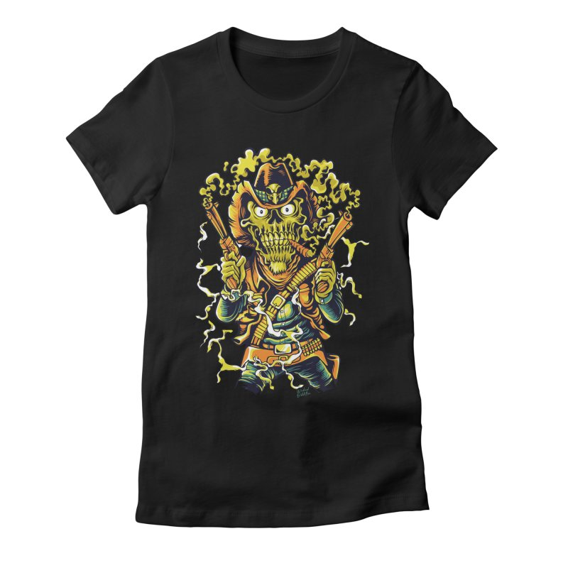 Western Horror Women's Fitted T-Shirt by Wicked Oddities