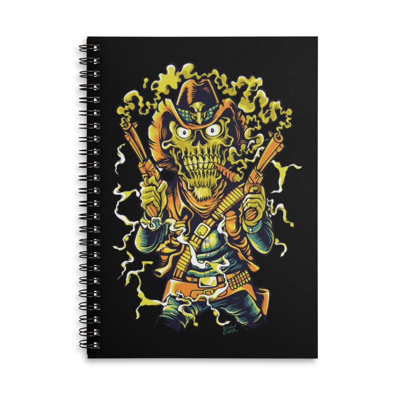 Western Horror Accessories Lined Spiral Notebook by Wicked Oddities