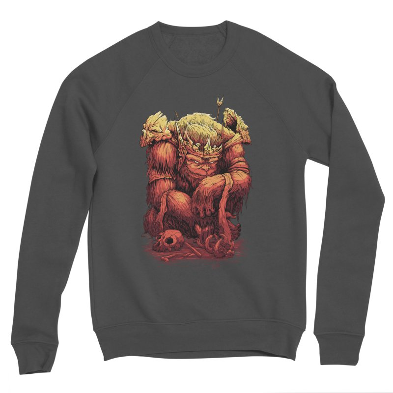 Monster King Women's Sponge Fleece Sweatshirt by Wicked Oddities