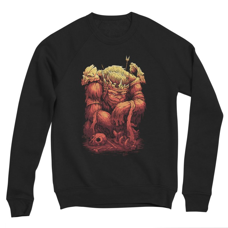 Monster King Men's Sponge Fleece Sweatshirt by Wicked Oddities