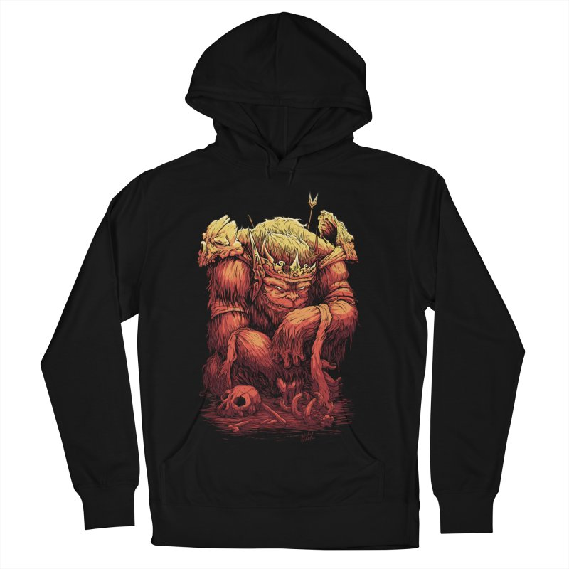 Monster King Men's French Terry Pullover Hoody by Wicked Oddities