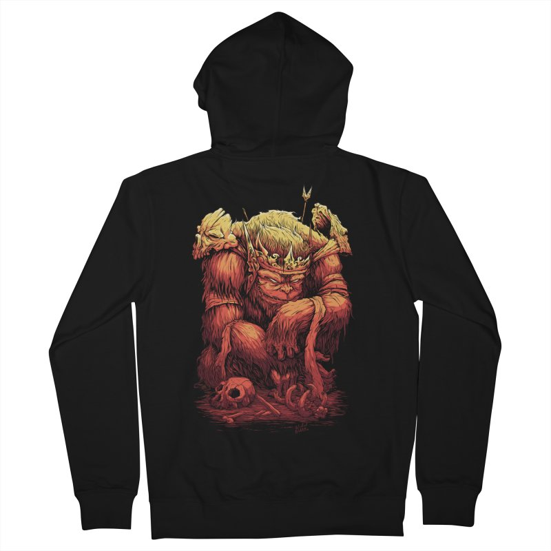 Monster King Men's French Terry Zip-Up Hoody by Wicked Oddities