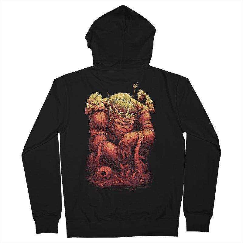 Monster King Men's Zip-Up Hoody by Wicked Oddities