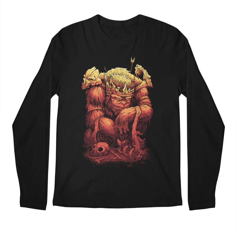 Monster King Men's Regular Longsleeve T-Shirt by Wicked Oddities