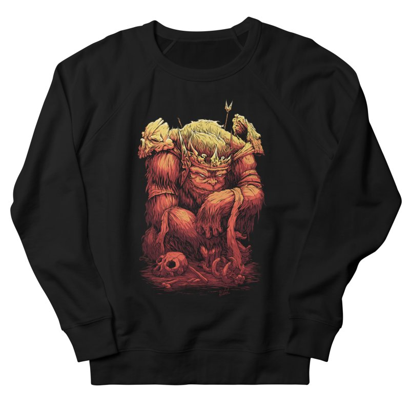 Monster King Men's French Terry Sweatshirt by Wicked Oddities