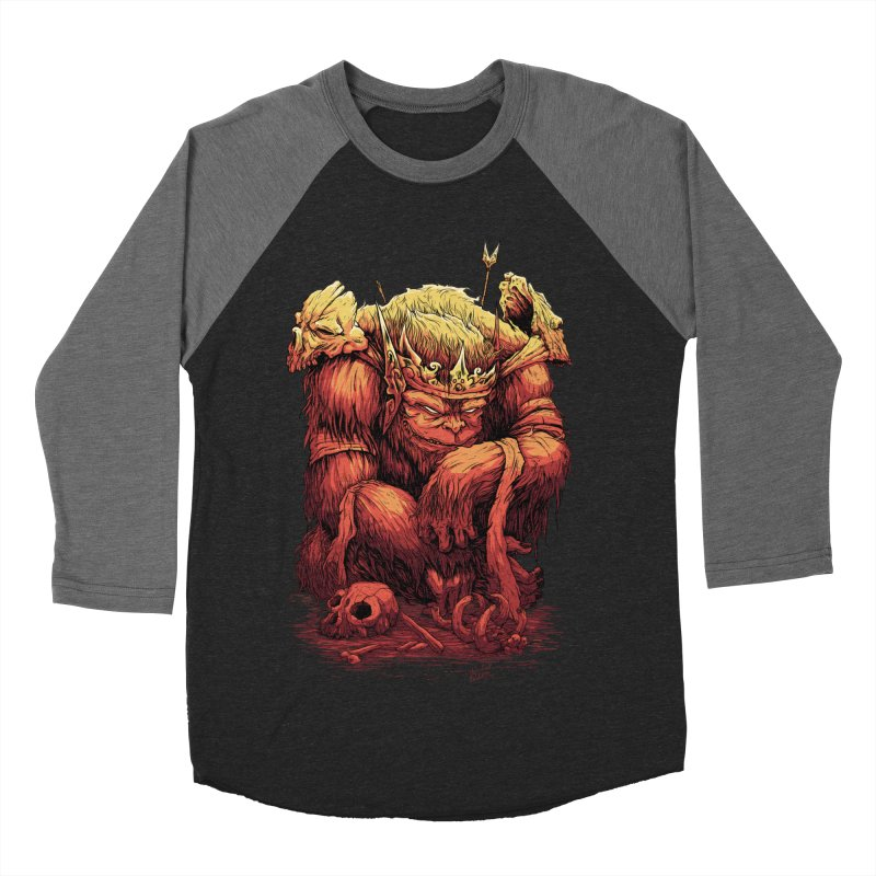 Monster King Women's Baseball Triblend Longsleeve T-Shirt by Wicked Oddities