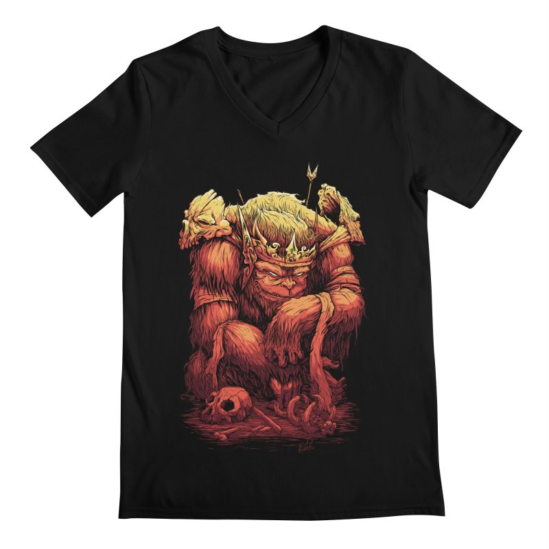 Monster King Men's Regular V-Neck by Wicked Oddities