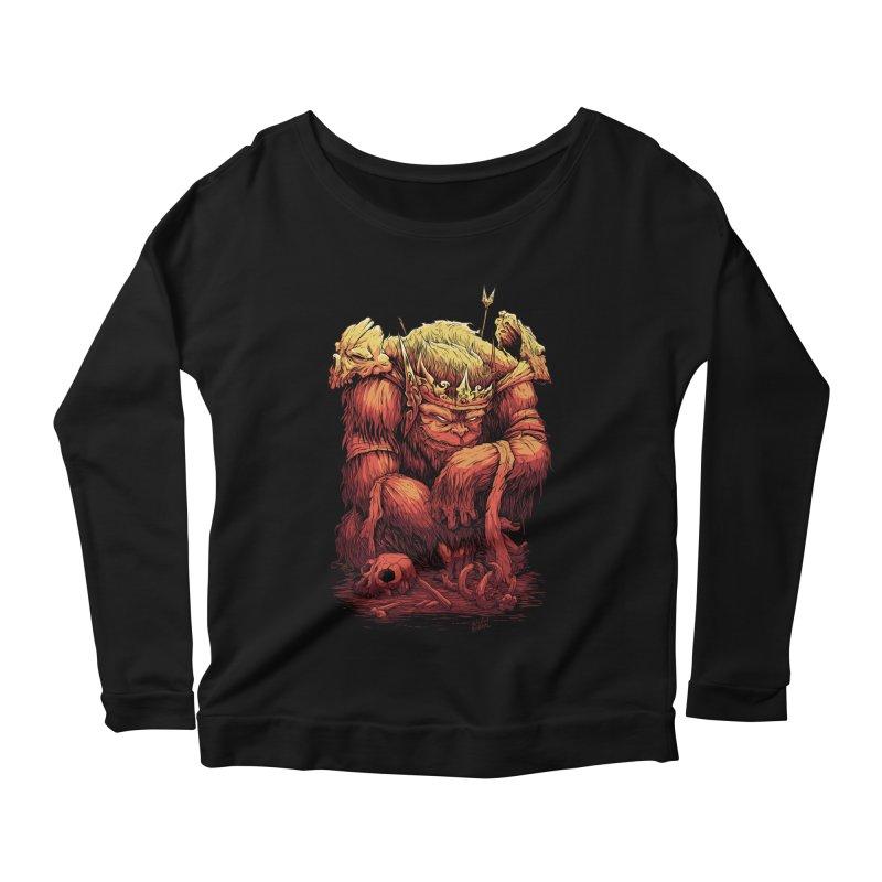 Monster King Women's Scoop Neck Longsleeve T-Shirt by Wicked Oddities