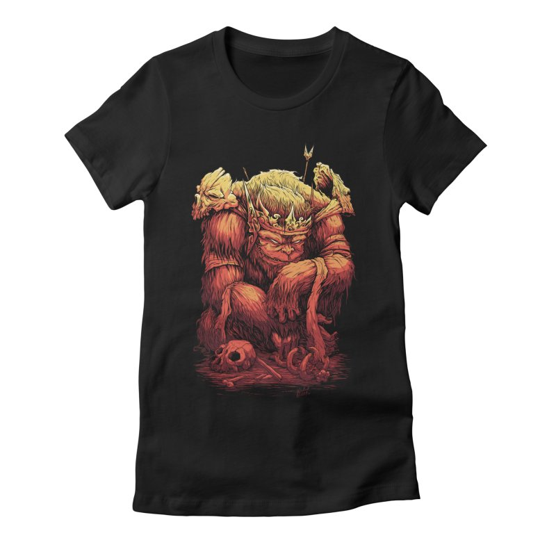 Monster King Women's Fitted T-Shirt by Wicked Oddities