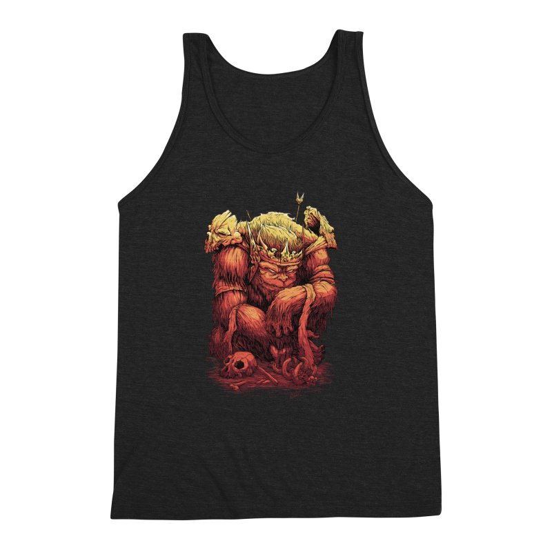 Monster King Men's Triblend Tank by Wicked Oddities