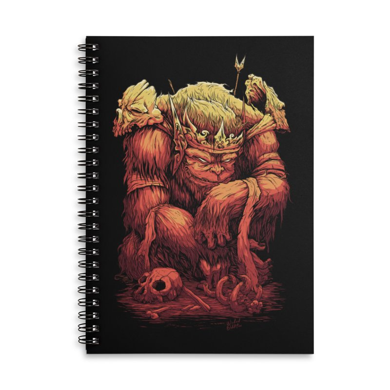 Monster King Accessories Lined Spiral Notebook by Wicked Oddities