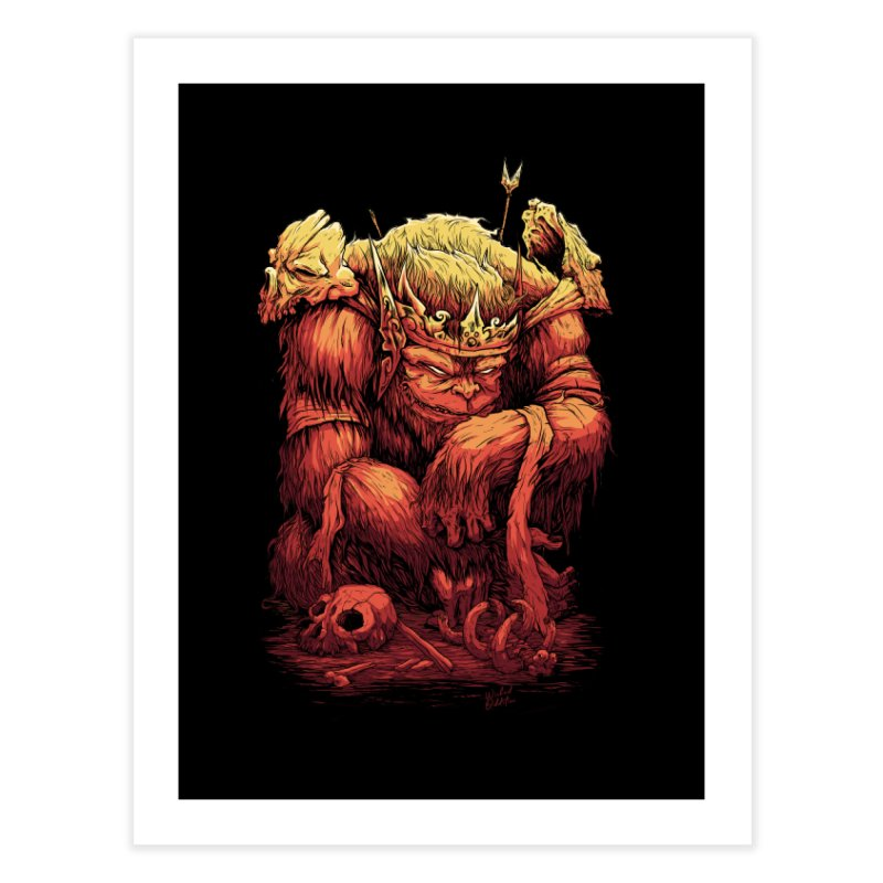 Monster King Home Fine Art Print by Wicked Oddities