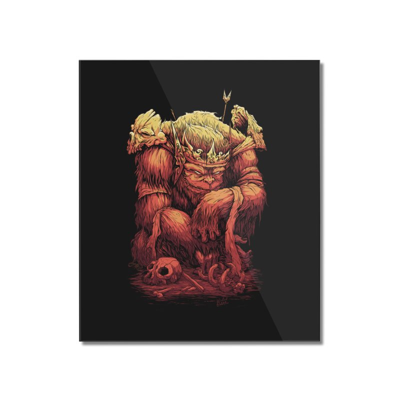 Monster King Home Mounted Acrylic Print by Wicked Oddities