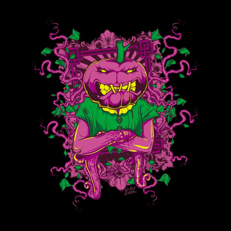 Pumpkin Terror Kids T-Shirt by Wicked Oddities