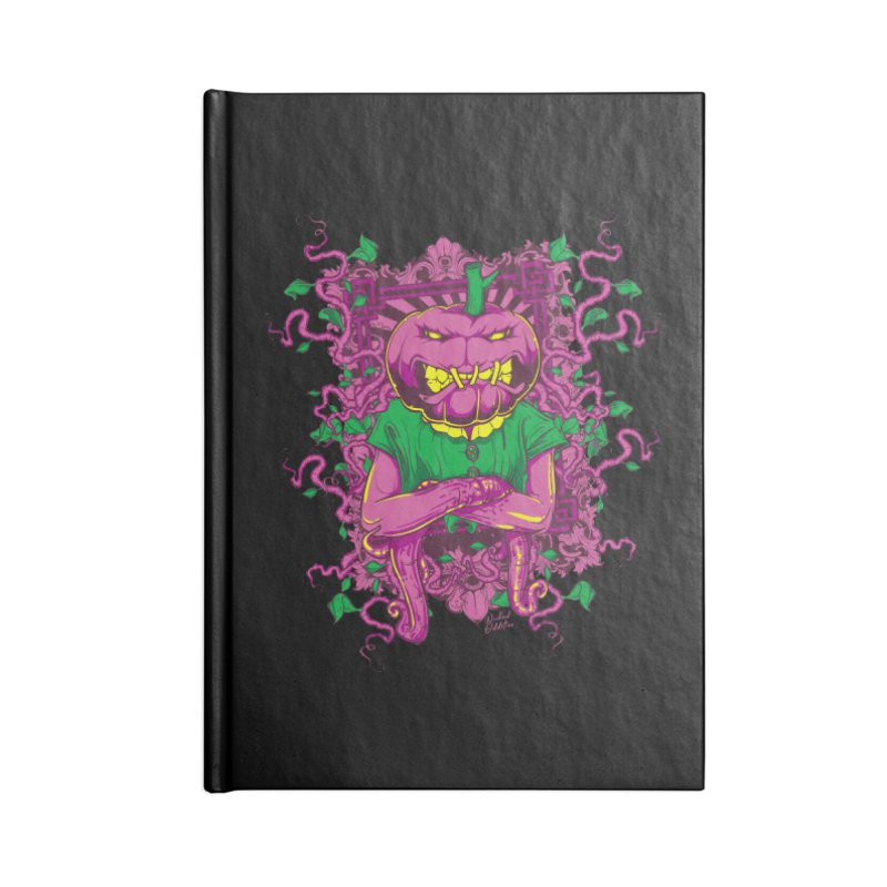 Pumpkin Terror Accessories Blank Journal Notebook by Wicked Oddities
