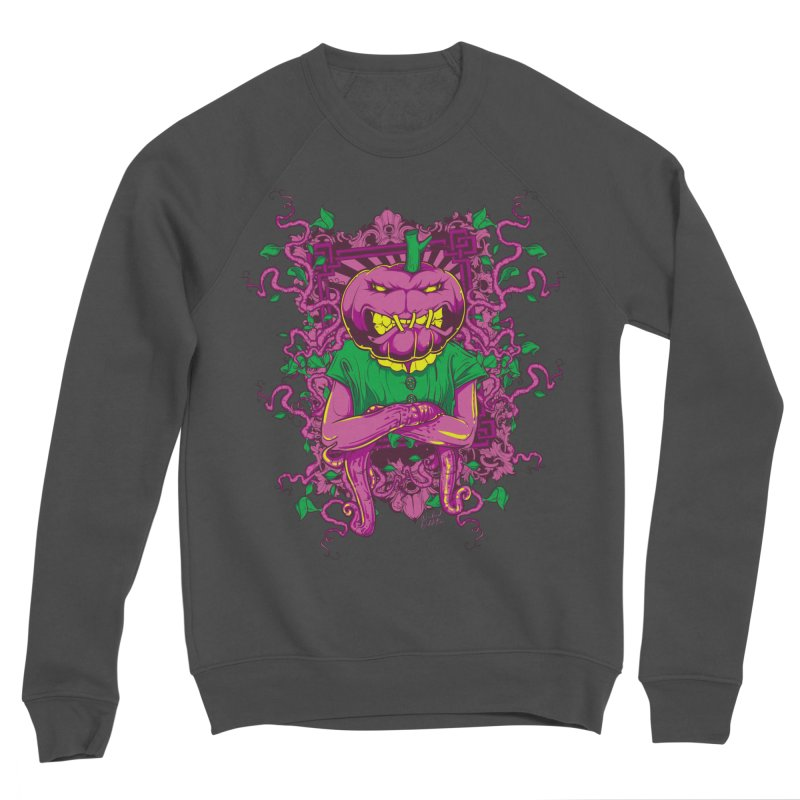 Pumpkin Terror Men's Sponge Fleece Sweatshirt by Wicked Oddities